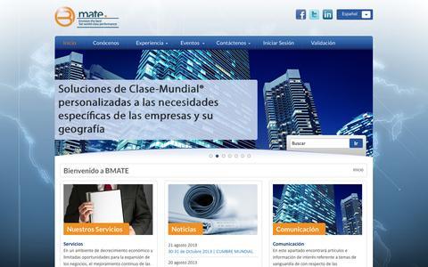 Screenshot of Home Page bmate.com.mx - Bmate - captured Jan. 24, 2015