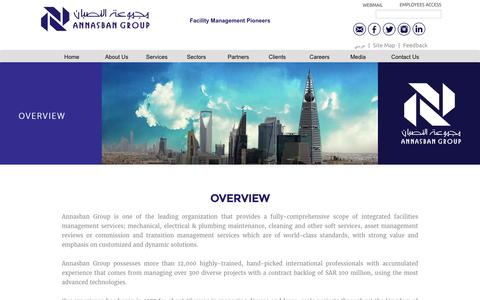 Screenshot of About Page nasban.com.sa - AnNasban Group | Facility Management Pioneers - captured Dec. 3, 2016