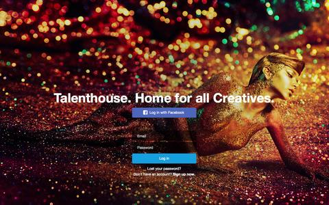 Screenshot of Login Page talenthouse.com - Talenthouse - captured Nov. 9, 2015