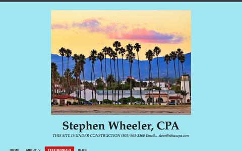 Screenshot of Testimonials Page wordpress.com - Testimonials – Stephen Wheeler, CPA - captured Sept. 25, 2018