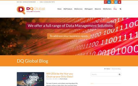 Screenshot of Blog dqglobal.com - Blog   DQ Global - captured Jan. 7, 2016