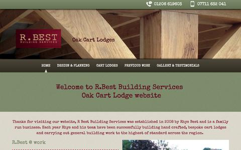 Screenshot of Home Page cart-lodge.co.uk - R. Best Building Services |  Oak Cart Lodges | Essex - captured Nov. 3, 2018