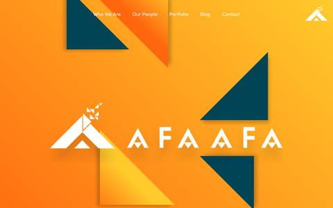 Screenshot of Home Page afaafa.com - Afaafa | Official Website - captured July 29, 2018