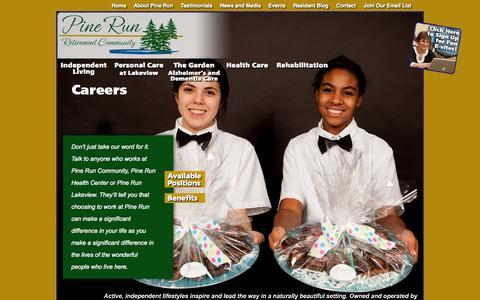 Screenshot of Jobs Page pinerun.org - Careers | Pine Run - captured Oct. 2, 2014