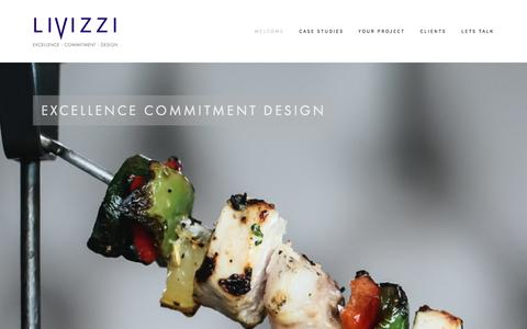 Screenshot of Home Page livizzi.com - Excellence - Commitment - Design - captured Sept. 26, 2014
