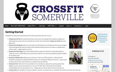 Screenshot of Trial Page crossfitsomerville.com - Getting Started   CrossFit Somerville - captured Dec. 13, 2015