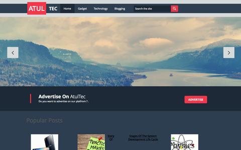 Screenshot of Home Page atultec.org - Atul Tec - captured Sept. 22, 2014