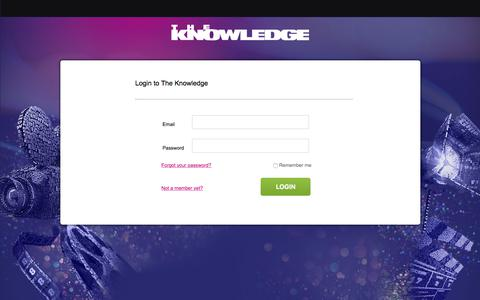 Screenshot of Login Page theknowledgeonline.com - Login   The Knowledge - captured Sept. 22, 2018