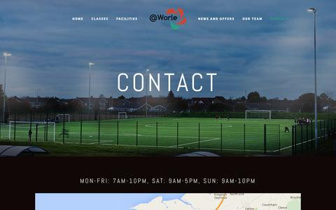 Screenshot of Contact Page worle.org.uk - Contact — @Worle - captured April 21, 2016