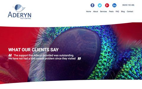 Screenshot of Testimonials Page aderyn.co.uk - Aderyn testimonials - captured Feb. 5, 2016