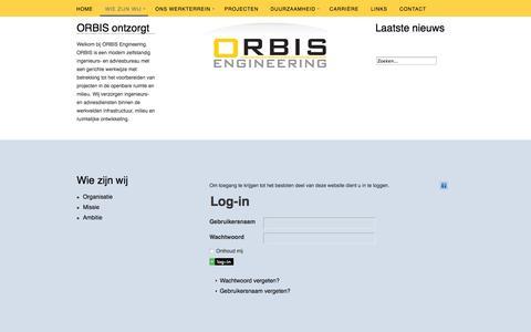 Screenshot of Login Page orbisengineering.nl - Log-in - captured Oct. 26, 2014