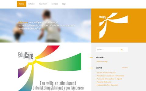 Screenshot of Home Page educare-harderwijk.nl captured Oct. 2, 2014