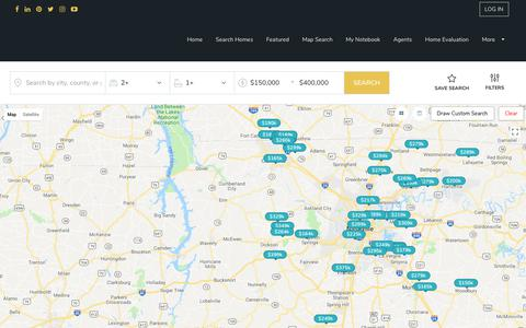 Screenshot of Maps & Directions Page kaizen-realty.com - Homes for Sale | Homes For Sale in Memphis and Nashville Area - captured Sept. 20, 2018