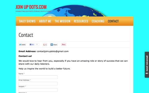 Screenshot of Contact Page joinupdots.com - Contact   JOIN UP DOTS.COM - captured Oct. 31, 2014