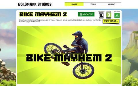 Screenshot of Home Page goldmarkstudios.com - Goldmark Studios | Vancouver Boutique Indie Game Studio - captured Nov. 11, 2016