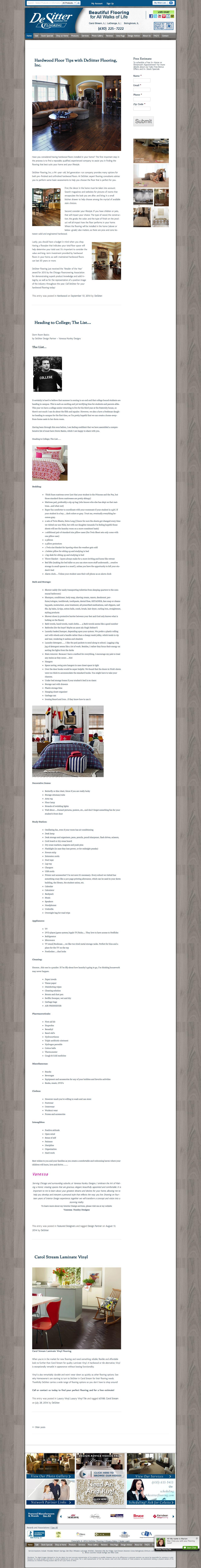 Screenshot of desitterflooring.com - DeSitter Flooring - captured Oct. 5, 2014