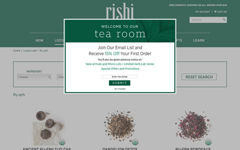 Organic Pu-erh Tea |  Rishi-Tea.com