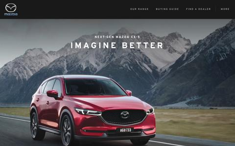 Screenshot of Home Page mazda.com.au - Mazda Australia | New Cars, Offers, Dealerships - Zoom-Zoom - captured Oct. 17, 2017