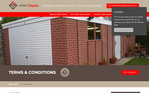 Screenshot of Terms Page lidget.co.uk - Terms & Conditions | Lidget Compton - captured Sept. 29, 2018