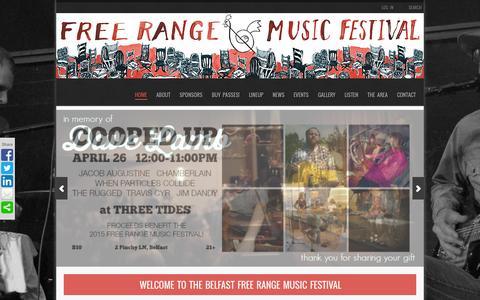 Screenshot of Home Page freerangemusicfestival.com - BELFAST FREE RANGE MUSIC FESTIVAL | Festival Saturday, April 27th! - captured Sept. 30, 2014