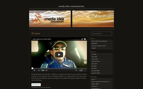 Screenshot of Press Page wordpress.com - TC 2000 | media idea comunicación - captured Sept. 12, 2014