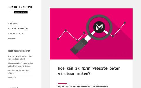 Screenshot of Blog dm-interactive.nl - DM Interactive blog - webdesign, UX, UI, Ecommerce - captured Nov. 24, 2016