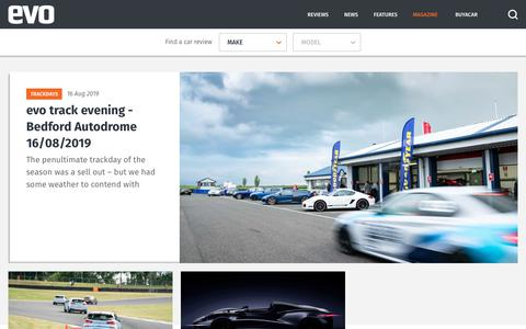Screenshot of Home Page evo.co.uk - Evo | Supercar and performance car reviews and news - captured Aug. 17, 2019