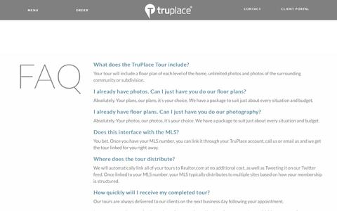 Screenshot of FAQ Page truplace.com - TruPlace FAQ - captured June 16, 2017