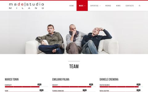 Screenshot of Team Page madestudio.it - Team | madestudio - captured Oct. 27, 2014