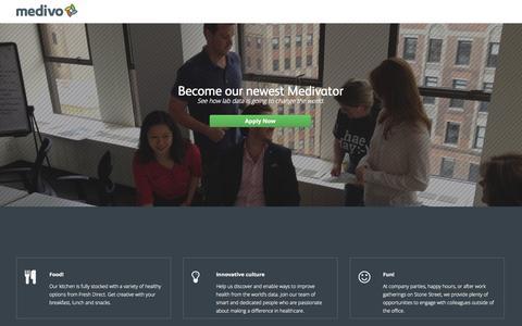 Screenshot of Jobs Page medivo.com - Careers - Medivo - captured Sept. 16, 2014