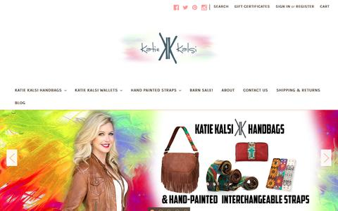 Screenshot of Home Page katiekalsi.com - Katie Kalsi Handbags - captured Nov. 15, 2018