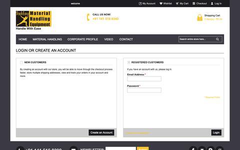 Screenshot of Login Page stack-easy.com - Customer Login - captured Sept. 30, 2018