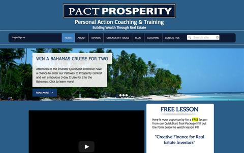 Screenshot of Contact Page pactprosperity.com - PACT Prosperity - captured Sept. 26, 2014