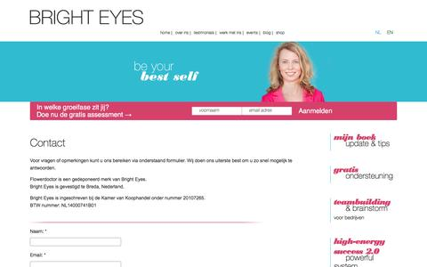 Screenshot of Contact Page flowerdoctor.nl - Contact | Bright Eyes - captured Nov. 25, 2016