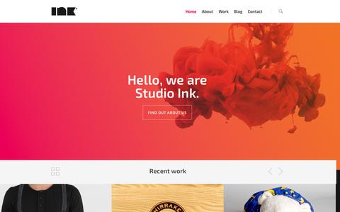 Screenshot of Home Page studioink.com.au - Studio Ink | Graphic Design Bendigo - captured Oct. 6, 2014