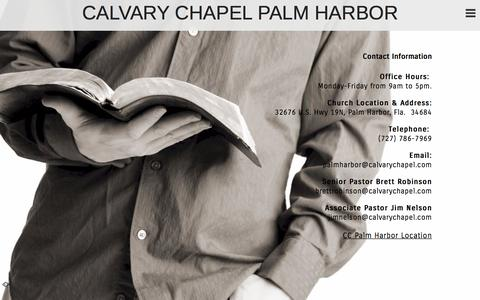 Screenshot of Contact Page ccpalmharbor.org - Contact «  CALVARY CHAPEL PALM HARBOR - captured Sept. 28, 2015
