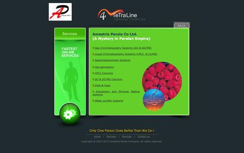 Screenshot of Services Page amestrispersia.com - .: Amestris Persia :. - captured Oct. 5, 2014