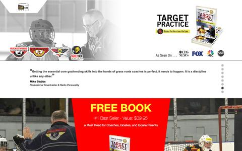 Screenshot of Home Page puckstoppers.com - Puckstoppers Goaltending   Goalie Schools and Year Round Training - captured Sept. 30, 2018