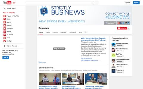 Screenshot of YouTube Page youtube.com - Businews  - YouTube - captured Oct. 26, 2014
