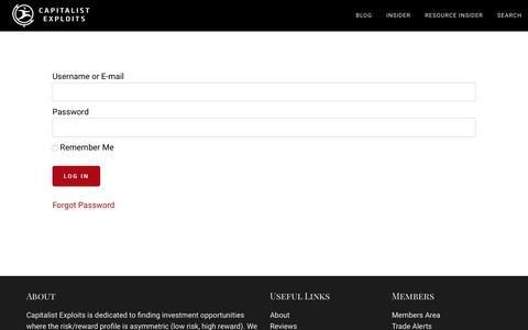 Screenshot of Login Page capitalistexploits.at - Login — Capitalist Exploits - captured Oct. 10, 2018