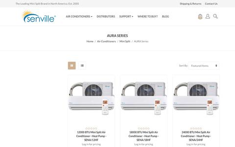 Air Conditioners - Mini Split - AURA Series - Senville