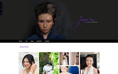 Screenshot of Home Page jcluu.com - Jenny Luu Hair + Makeup » :: Boston Hair and Makeup Artist :: Weddings :: Editorial :: Photo Shoots :: Engagement Sessions - captured Oct. 6, 2014