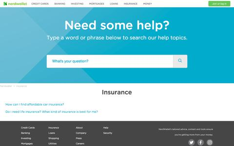 Insurance – Nerdwallet