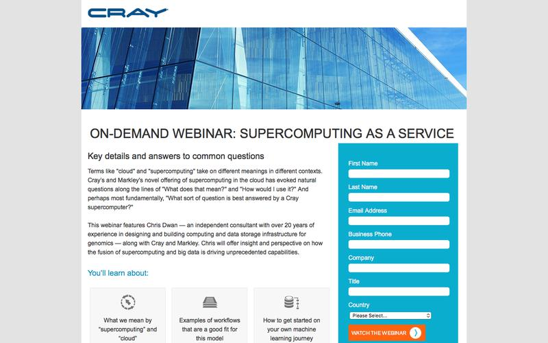 WEBINAR: SUPERCOMPUTING AS A SERVICE