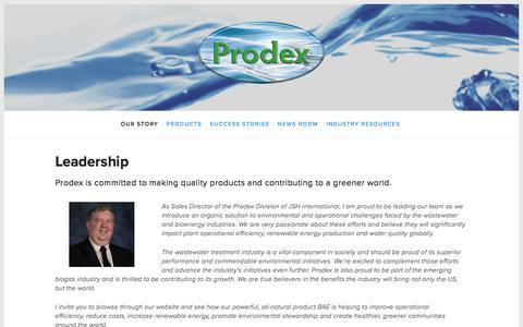 Screenshot of Team Page prodexproducts.com - Leadership — Prodex - captured Jan. 15, 2018