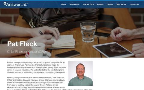 Screenshot of Team Page answerlab.com - Pat Fleck - captured Feb. 26, 2017