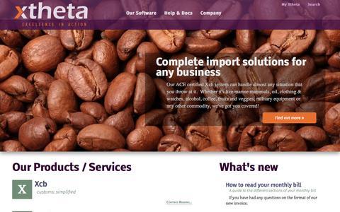 Screenshot of Home Page xtheta.com - Xtheta   Home - captured Feb. 23, 2016
