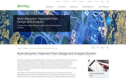 Water, Wastewater Treatment Plant Design, Analysis Solutions