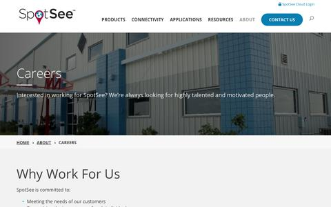 Screenshot of Jobs Page spotsee.io - Career Opportunities at SpotSee - captured July 21, 2019