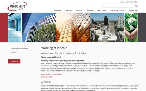 Screenshot of Jobs Page pinchin.com - Working at Pinchin | Pinchin Ltd. - captured Aug. 2, 2017